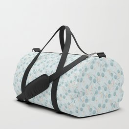 Blue Flowers Duffle Bag