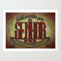 lettering Art Prints featuring Lettering by MarcosDevelop