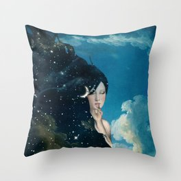 Shhh...Lady Night Is Coming Throw Pillow