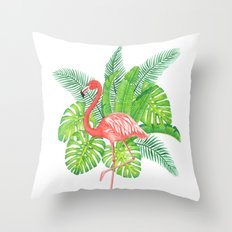 Flamingo Tropicale Throw Pillow