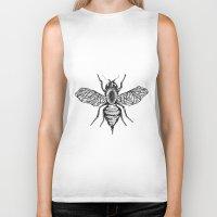 bee Biker Tanks featuring Bee by Aubree Eisenwinter