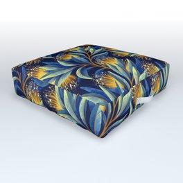 Pohutukawa - Yellow / Blue Outdoor Floor Cushion