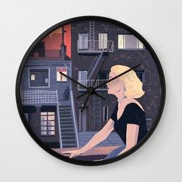 Rear window - Classic Movie - Lockdown style illustration print Wall Clock