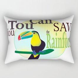 You TouCan Save The Rainforest Rectangular Pillow