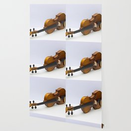 violin on a gray background Wallpaper