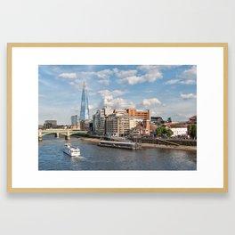 London Skyline and River Thames Framed Art Print