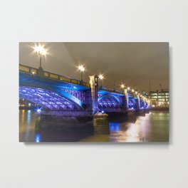 Bright blue Southwark bridge Metal Print