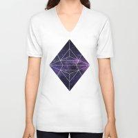cosmic V-neck T-shirts featuring Cosmic by Marta Olga Klara