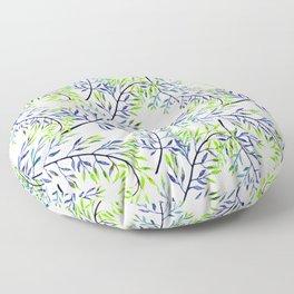 Delicate leaves . 2 Floor Pillow