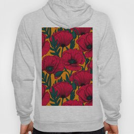 Red poppy garden    Hoody