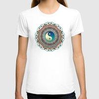 batik T-shirts featuring Bohemian Batik Yin Yang by Webgrrl