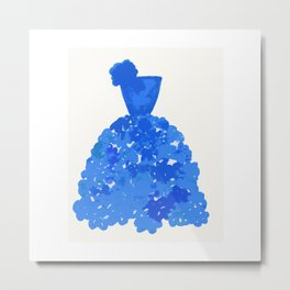 A Pretty Blue Dress Metal Print