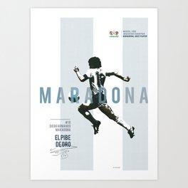 #10 Maradona // World Cup • Football Stars  Art Print