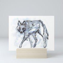 Coyote Sketch Mini Art Print