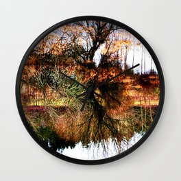 Reflection in Mirror Image Wall Clock