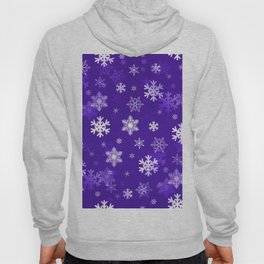 Light Purple Snowflakes Hoody