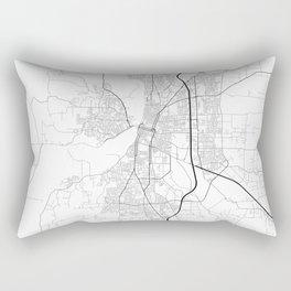 Minimal City Maps - Map Of Salem, Oregon, United States Rectangular Pillow