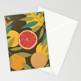 Gray Grapefruit Stationery Cards