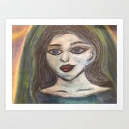 The Maiden cloaked in starlight Art Print