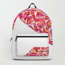 Pink Orange Diamond Backpack