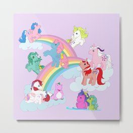 g1 my little pony early characters group Metal Print