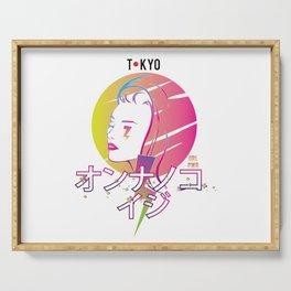 Tokyo Girl Power Japanese Katakana Serving Tray