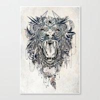 lion Canvas Prints featuring Lion by Feline Zegers