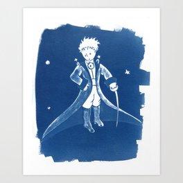 Little Prince Cyanotype Art Print