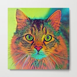 AnimalColor_Cat_ 011_by_JAMColors Metal Print