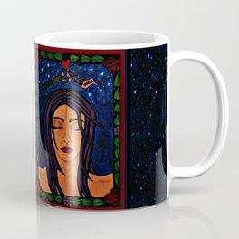 Estrellado, Indigo Sueno Azul (Starry, Indigo Blue Dream) - Symmetrical Art Coffee Mug