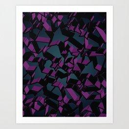 3D Mosaic BG V Art Print