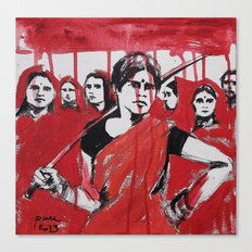 Strong, Bloody India womans Canvas Print