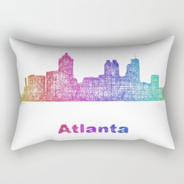 Rainbow Atlanta skyline Rectangular Pillow