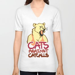 CATS AGAINST CATCALLS LION(ESS) 1 Unisex V-Neck