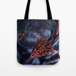 Red Faced Serpent Tote Bag