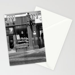 A paperboy outside an arcade in Leeds Stationery Cards