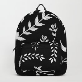 White Leaves Pattern #3 #drawing #decor #art #society6 Backpack