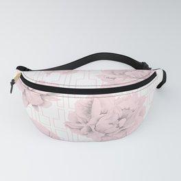 Rose Garden Pink Flamingo Mid-Century Lattice Fanny Pack
