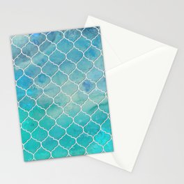 Under the Shimmering Sea Tile Pattern Stationery Cards