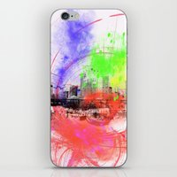 skyline iPhone & iPod Skins featuring Skyline by Fine2art