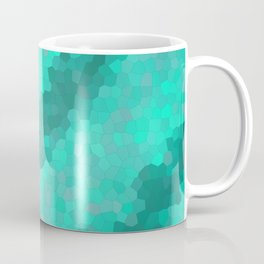 Colored green geometric mosaic streaks Coffee Mug