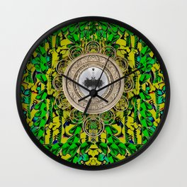 One good world and one Island pop-art Wall Clock