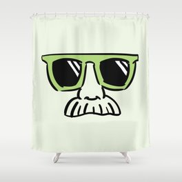 Too Cool (pea green) Shower Curtain