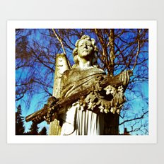 Cemetery angel Art Print
