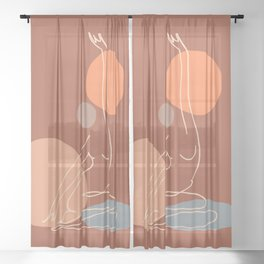 Abstraction_SUNNY_YOGA_Minimalism_001 Sheer Curtain