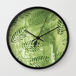 Spring abstract painting Wall Clock