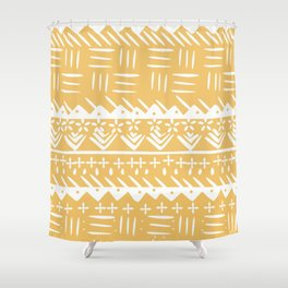 Tribal monochrome mudcloth Shower Curtain
