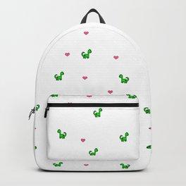Dino Love White Backpack
