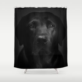 I met a girl (Black and white version) Shower Curtain