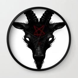 Sigil of Baphomet Goat of Mendes Satan Dark Goth Pentagram Wall Clock